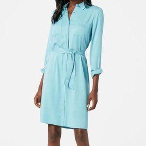 JustFab Plus Size Long Sleeve Belted Shirt Dress
